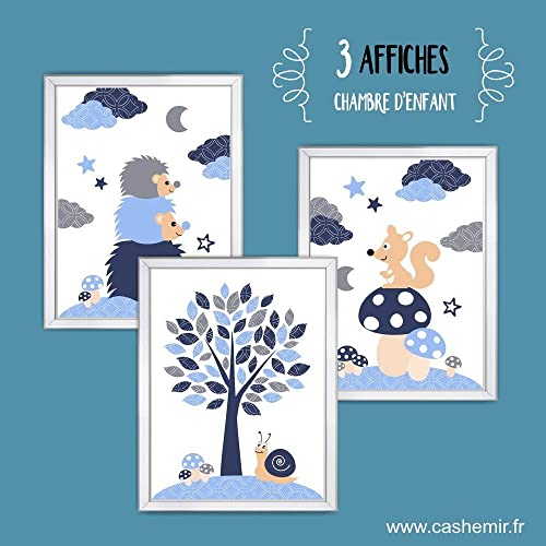 Illustrations pour chambre d\'enfant, affiche poster bébé garçon ...