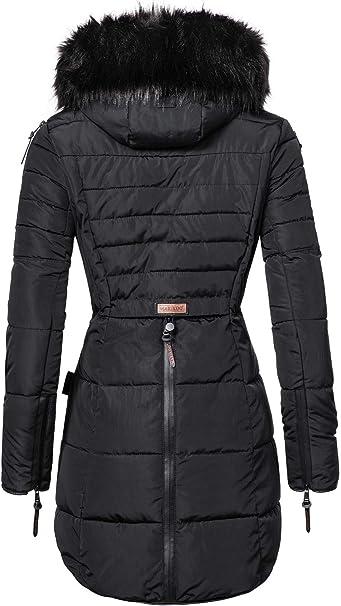 Marikoo damski zimowy płaszcz pikowany Moonshine (wyprodukowany wegański) XS-XXL: Odzież