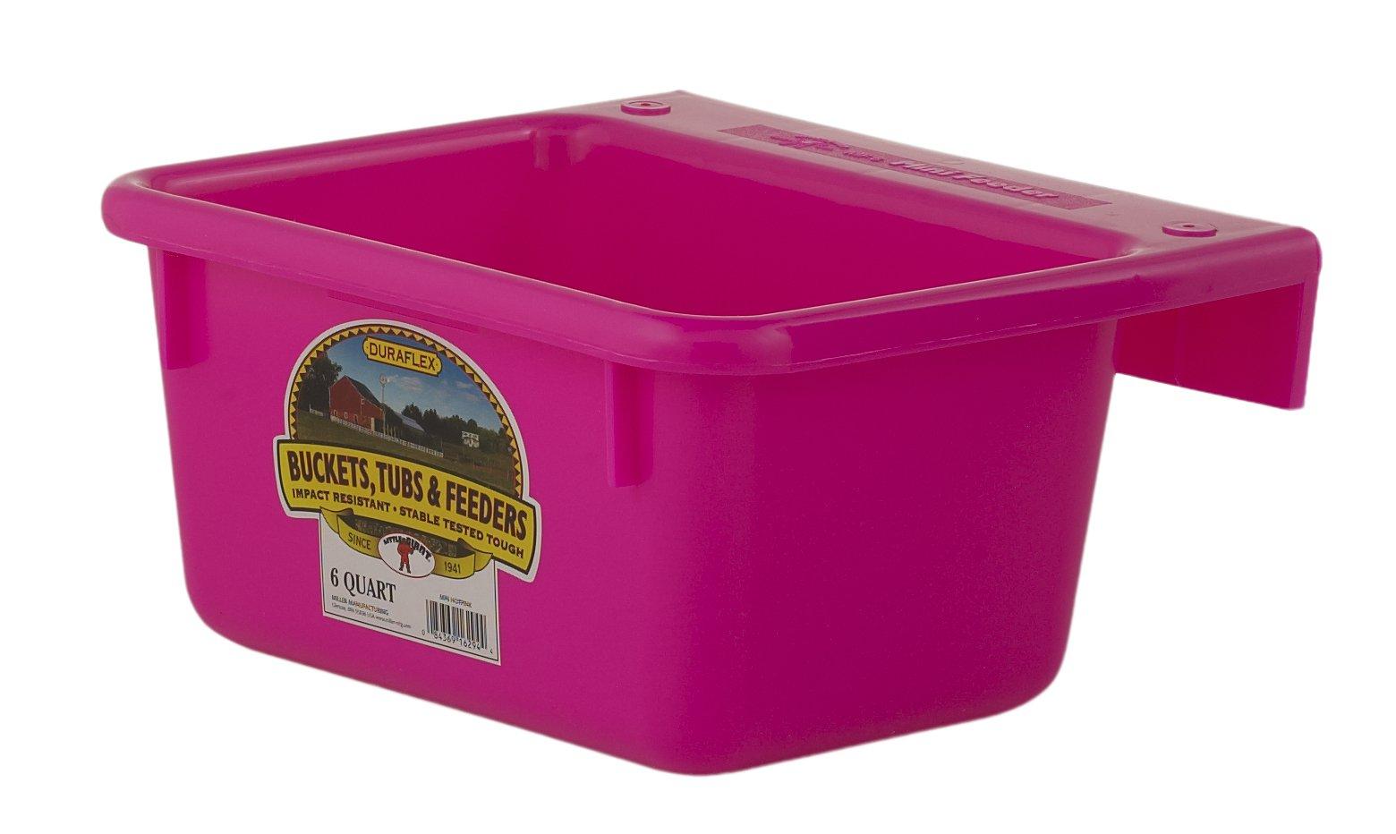 Little Giant 6-Quart Dura-Flex Plastic Feeder, Mini, Hot Pink by LITTLE GIANT