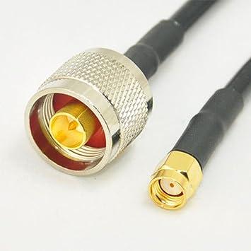 10 pies N enchufe para RP-SMA macho (hembra Pin) conector recto pigtail
