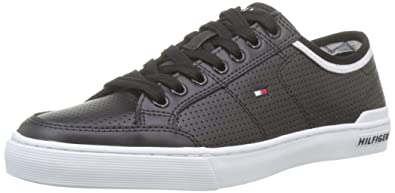 671f41d44f Tommy Hilfiger Men s Core Corporate Leather Sneaker Low-Top  Amazon ...