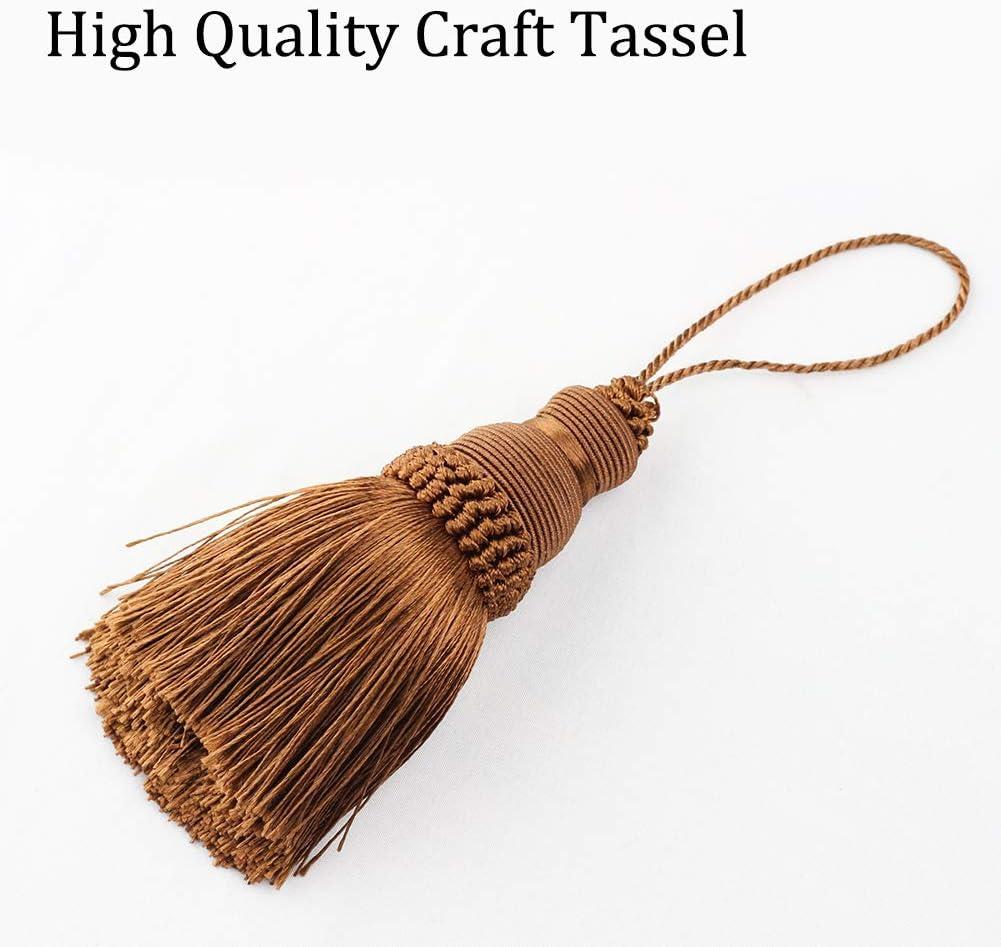 BEL AVENIR para correas de llavero accesorios de bricolaje color beige Juego de 4 borlas elegantes de poli/éster para manualidades