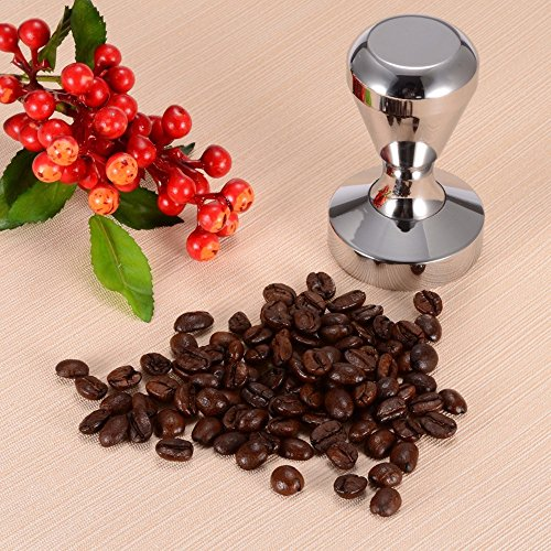 Gosedy Kitchen Accessories Coffee Tamper, 51mm Diameter Stainless Steel Flat Base Grip Handle Bean Barista Espresso Tamper pressure (58mm)