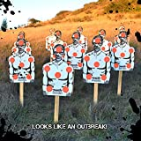 12 Pack Assorted Outbreak Skeet Holding Silhouettes Targets