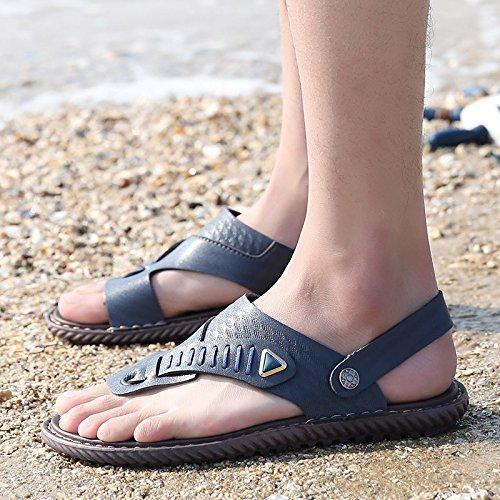 Uomini D'estate Sandali Uomini Tempo libero Scarpe antisdrucciolevoli antideflagranti Beach Anfibious Scarpe da mare, Blu, UK = 7, EU = 40 2/3
