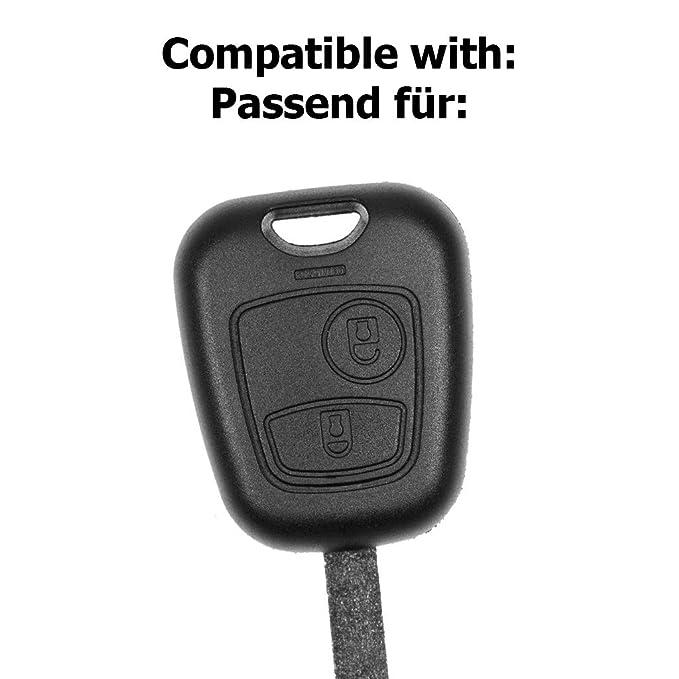 Funk Schlüssel Gehäuse VA2 für Citroen C1 I C2 C3 I Peugeot 107 Toyota Aygo III