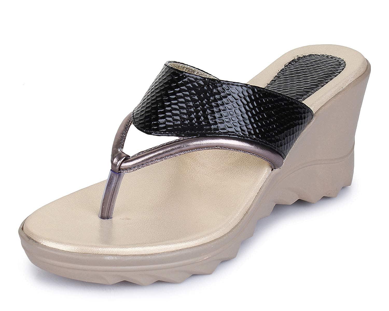 Buy TRASE Adora Black Heels Wedges for