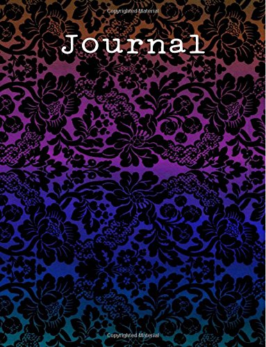 """Download Journal: Colorful Lace - College Ruled Journal Notebook: 120 Pages - 8.5"""" x 11"""" Glossy Soft Cover pdf epub"""