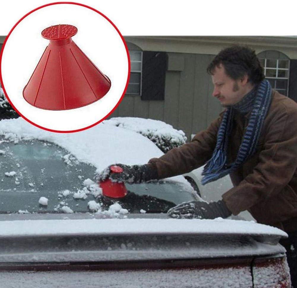 Lumpna 2//4PCS Ice Scraper Outdoor Tool Funnel Remover Cone Shaped Winter Car Windshield Snow Shovel Magic