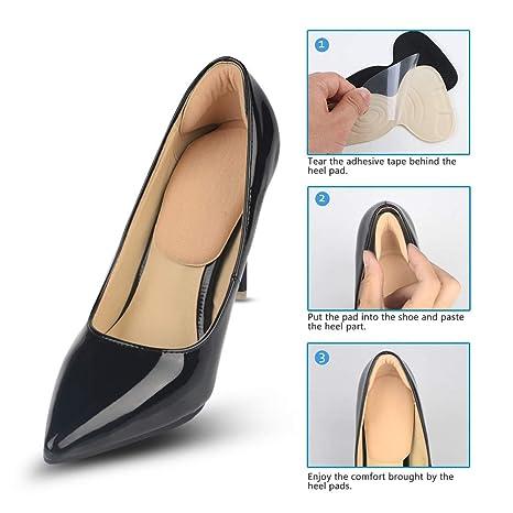 COSYINSOFA 3 Pairs Fersenkisseneinsätze, Fersengriffe und Schuhunterlagen für Schuhe zu groß,Fersenkisseneinsätze Griffe Einlagen Mix Komfortable