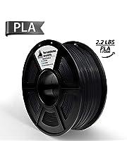 PLA Filament, 3D Hero PLA Filament 1.75mm,PLA 3D Printer Filament, 3D Printing Materials, Dimensional Accuracy +/- 0.02 mm, 2.2 LBS(1kg),1.75mm Filament,Black