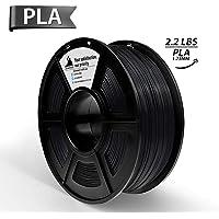 PLA Filament,3D Hero 3D Printer Filament PLA Black,3D printing material,Dimensional Accuracy +/- 0.02 mm Black,1.75 mm 1 kg Spool(2.2lbs)