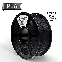 3D Hero 3D Printer Filament PLA Black,3D printing material,Dimensional Accuracy +/- 0.02 mm Black,1.75 mm 1 kg Spool(2.2lbs)