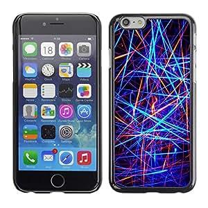 Be Good Phone Accessory // Dura Cáscara cubierta Protectora Caso Carcasa Funda de Protección para Apple Iphone 6 Plus 5.5 // Abstract Neon Lines