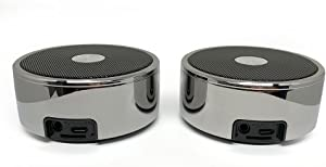 True Wireless Speakers: Twin Portable TWS Bluetooth Mini Stereo Speaker Dual Set Big Bass for Apple iPhone iOS Google Android Samsung Galaxy Nexus Smart Phones Laptops MAC PC Tablets Smartphones Echo