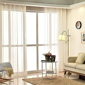 Amazon De Einfaches Wohnzimmer Schlafzimmer Weisse Gaze Vorhange