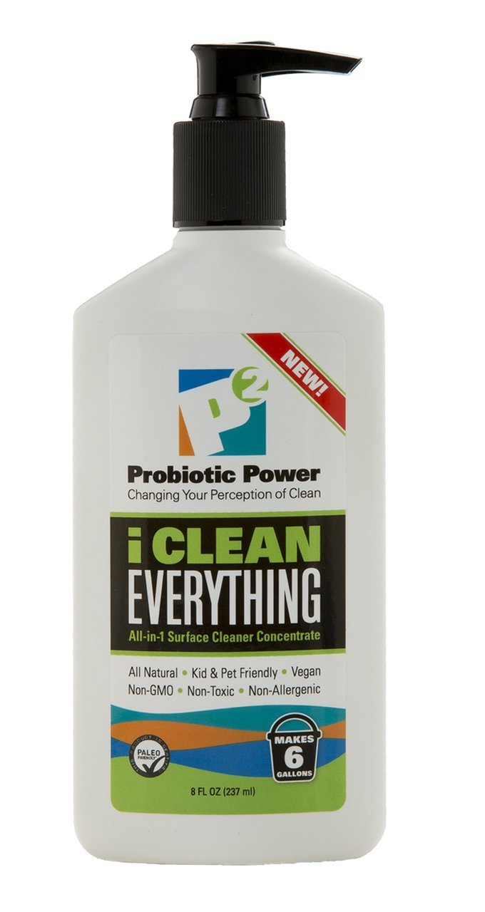 P2 I Clean Everything All in 1 Surface Cleaner 8 Oz.   Power in Probiotics   a Brand New Approach to Clean!   8oz Makes 6 Full Gallons of Cleaner
