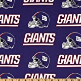 NFL Cotton Broadcloth New York Giants Blue/Red Fabric By The Yard