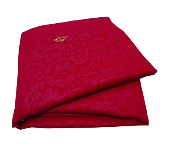 PEEGLI Indio Vintage Saree Rojo Velo Usado Art º Decoración Georgette Mezcla DIY Arte Usado Tela