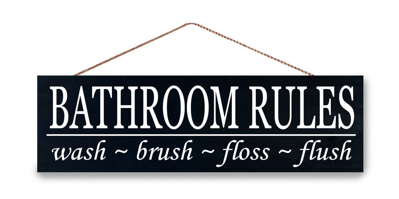 Cartello Da Appendere In Bagno : Cartelli da appendere in bagno: bagno regole segno placca da parete