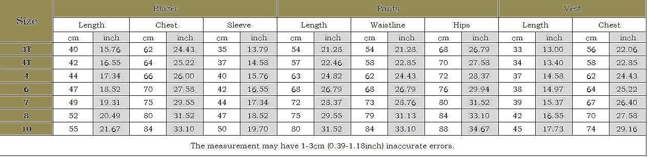 Amazon.com: Fengchengjize Boys 3Pcs Modern Fit Suit Solid ...