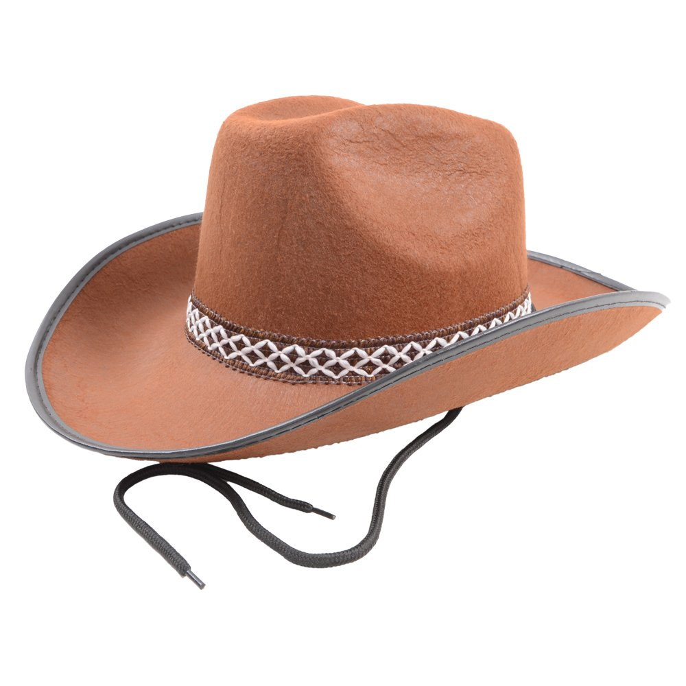 Cowboy Hat Rodeo Wild West Unisex Fancy Dress Accessory Brown   Amazon.co.uk  Toys   Games a7bb808b4bff