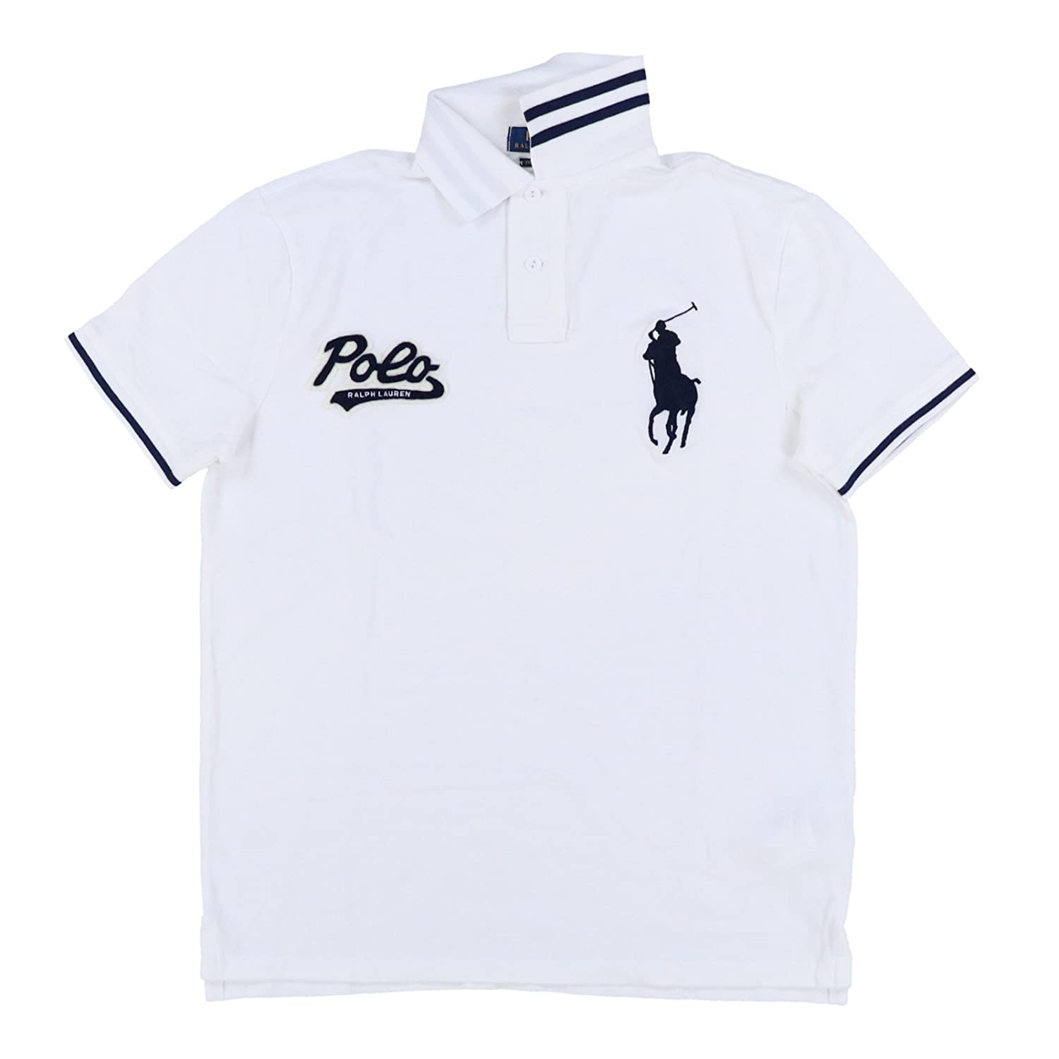 Polo Ralph Lauren Mens Custom Slim Fit Big Pony Polo Shirt
