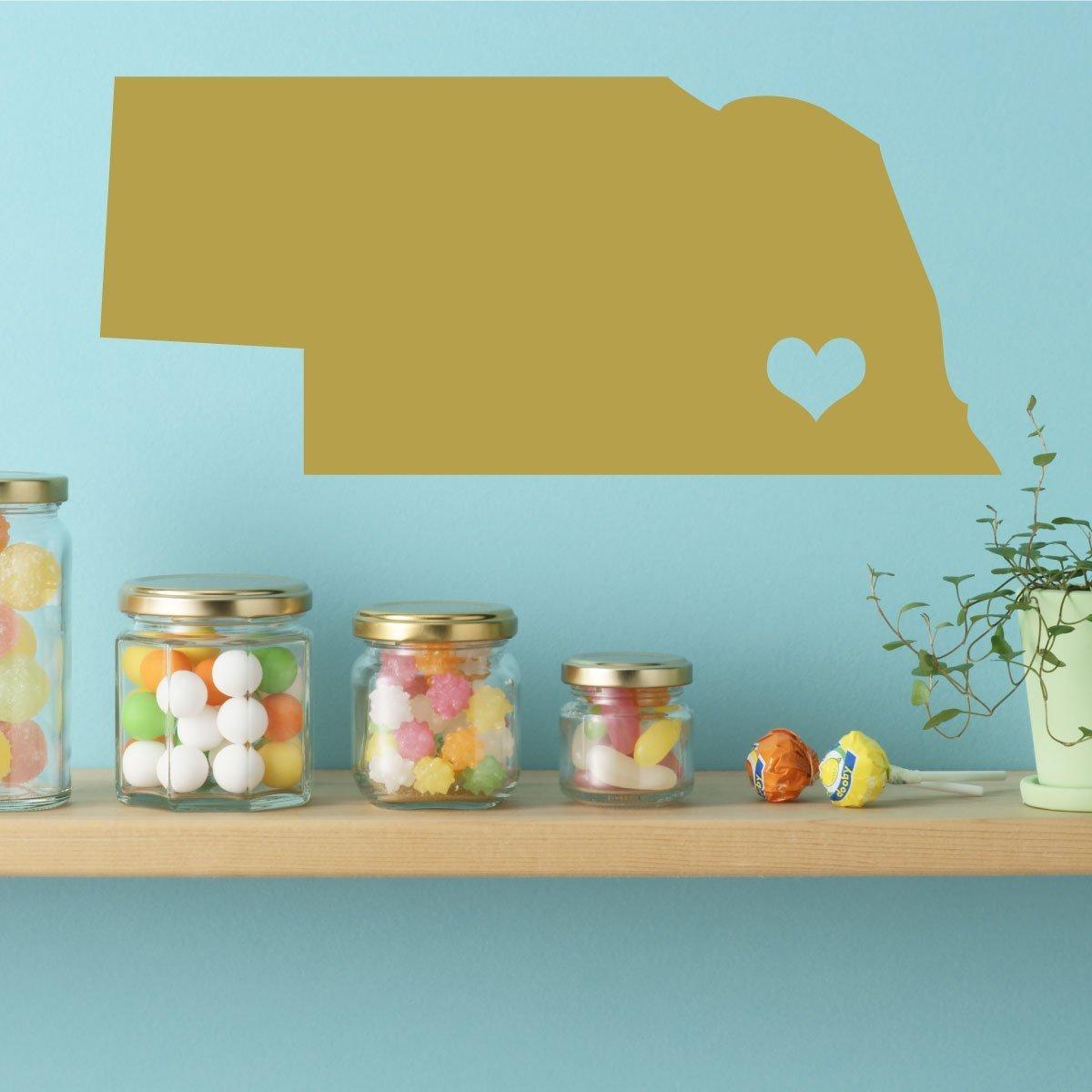 Amazon.com: Nebraska State Decal - Cornhusker State Vinyl Wall Art ...