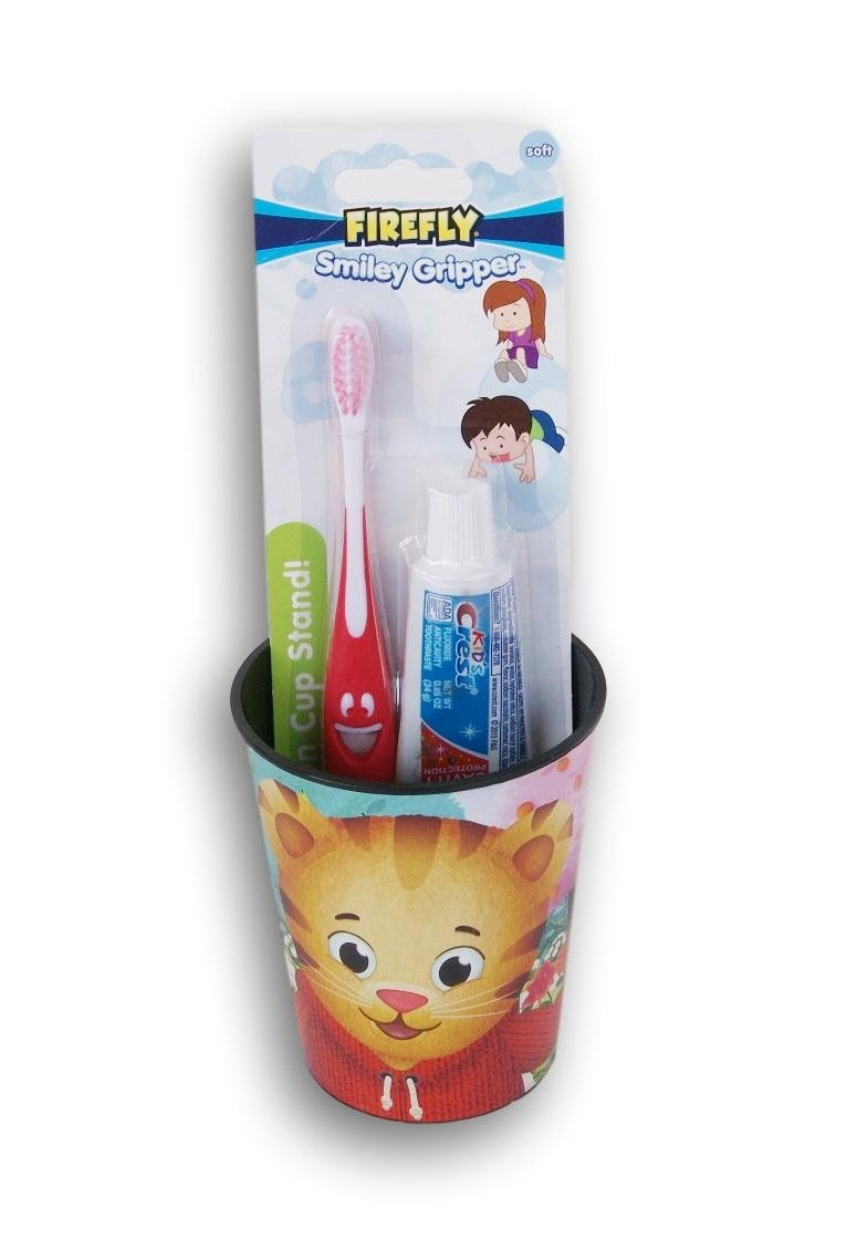 Daniel Tiger Tooth Brushing Kit Toothbrush Toothpaste and Rinsing Cup