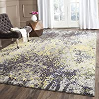 Safavieh Monaco Collection MNC223G Modern Abstract Grey and Multi Distressed Area Rug (4 x 57)