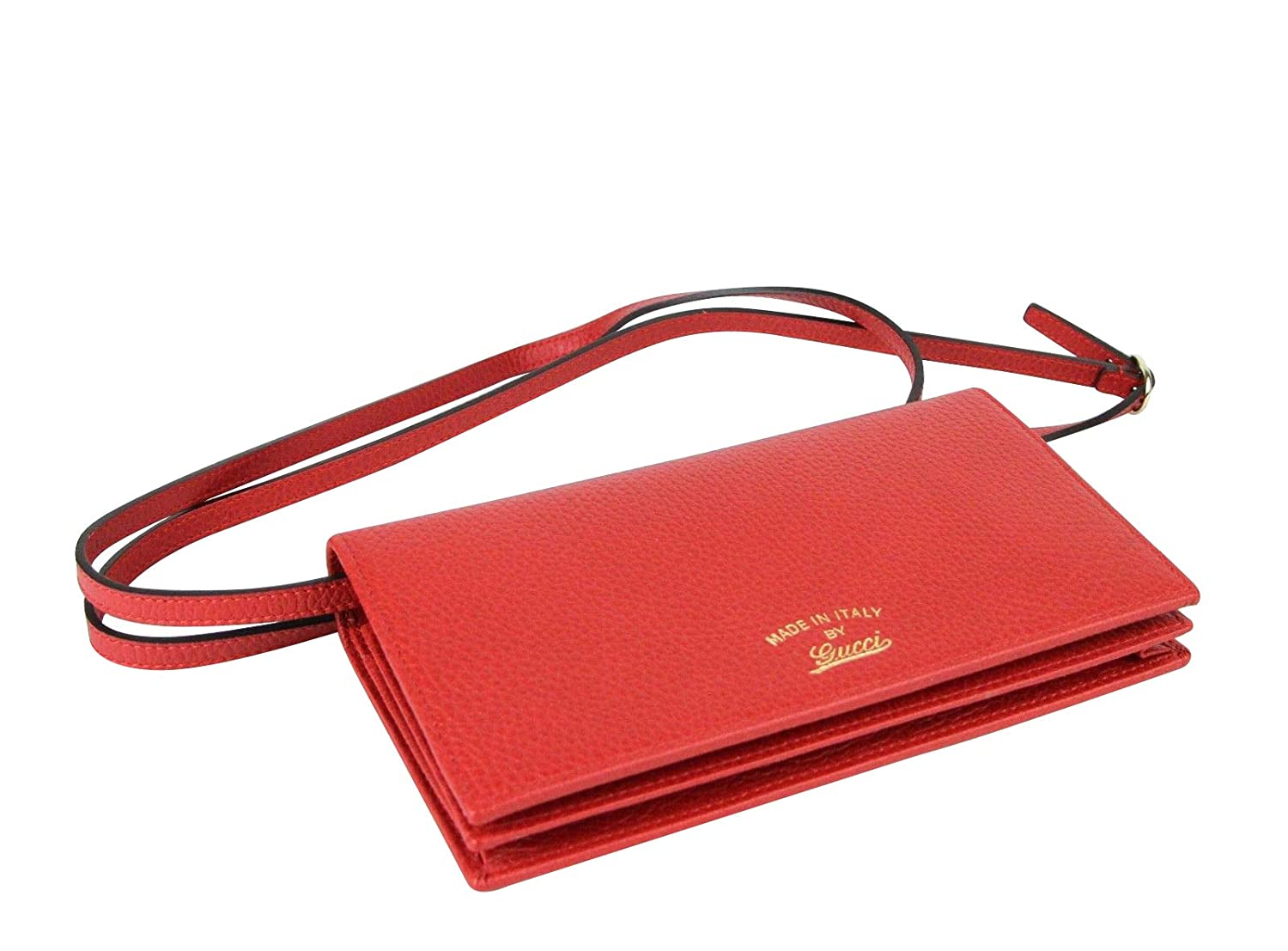 76eb65446db Amazon.com  Gucci Women s Swing Red Leather Crossbody Clutch Wallet 368231  6523  Shoes