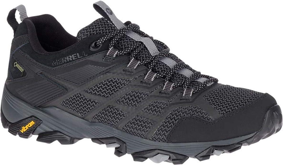Black Mens Merrell Moab Fst Gore-tex Mens Walking Shoes