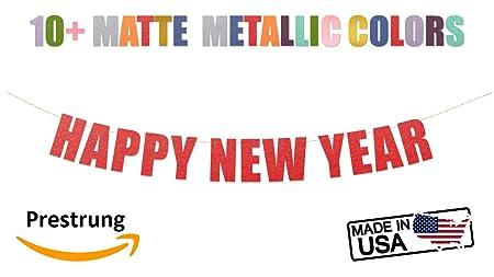 Amazon.com: Happy New Year Banner - Cartel de fiesta de año ...