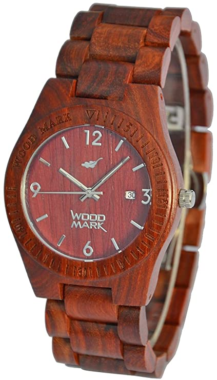 Madera marca relojes Sequoia 7217 – rojo sándalo