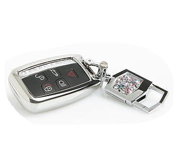 Llavero para hombre con llavero para llaves de coche, llaveros de metal, mando a distancia para Jaguar XEL / XF / XJ® / FL / F-TYPE / F-PACE, B style