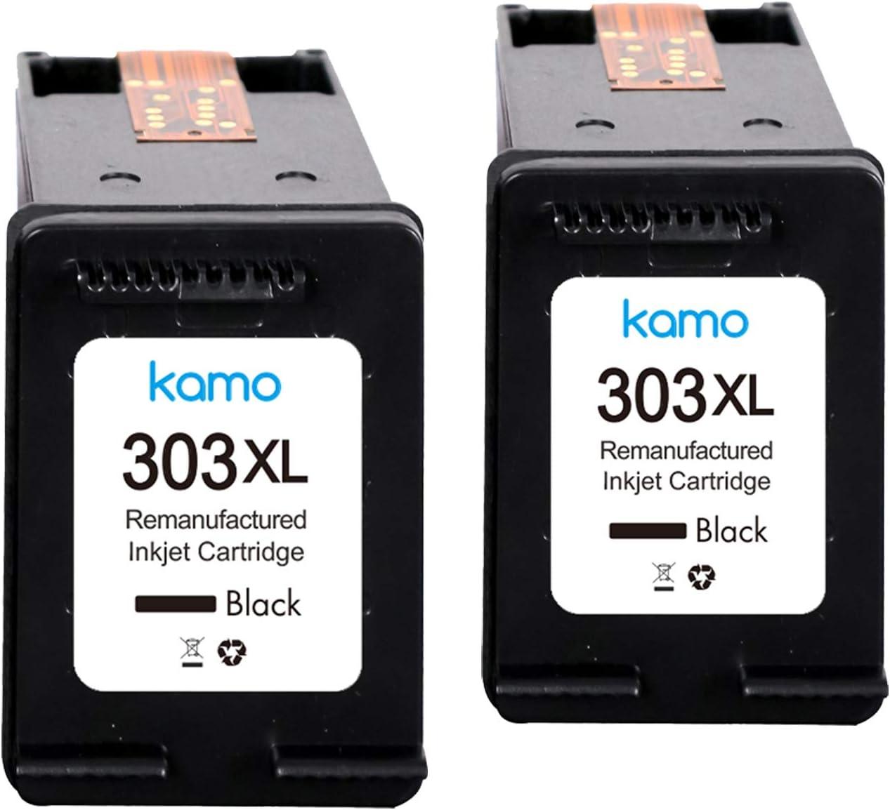Kamo 303XL Cartuchos de Tinta Compatible con HP 303 303XL, HP Tango, HP Tango X, HP Envy Photo 6220 6230 6232 6234 7100 7120 7130 7132 7134 7820 7830 7832 7834 (2xNegro)