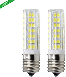 New e17 bulb, Dimmable E17 LED (88SMD) 6W, 120v White 60W Equivalent, Microwave Appliance Compatible Bulb (Pack of 2)