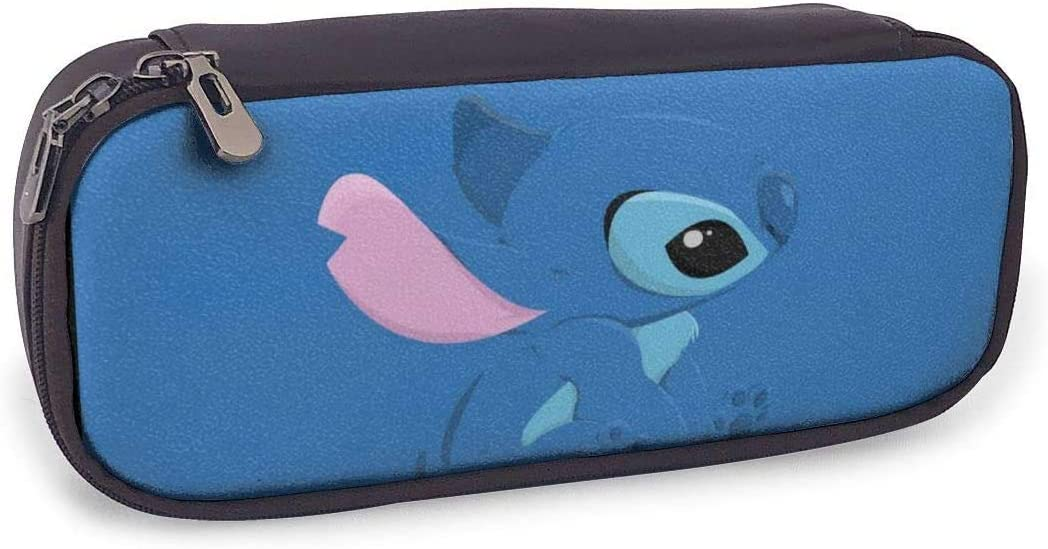 Estuches Oficina y papelería Lilo Stitch Pencil Case PU Leather Pen Cases Pouch Holder Stationery Cosmetic Makeup Double Zipper Bag for Igh/Middle/Junior/Elementary/Preschoolers/Student: Amazon.es: Equipaje