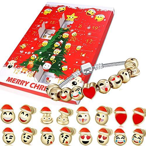 Litand Advent Calendar 2018 for Girls Bracelet / Countdown to Christmas with Emoji Jewelry