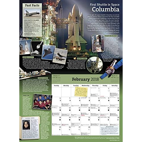 the year in space 2018 wall calendar large format 16 x 22 when
