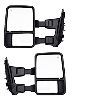 amazon com dedc ford towing mirrors f250 ford tow mirrors f350 dedc ford towing mirrors f250 ford tow mirrors f350 f450 pair for 1999 2007 side