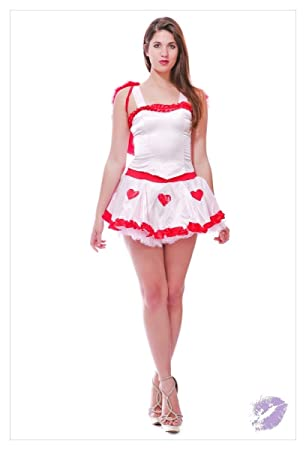 Fancy Dress Costume Sexy Valentines Day Cupid Outfit Women 8 10