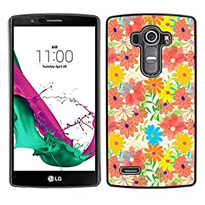 MOBMART Carcasa Funda Case Cover Armor Shell PARA LG G4 - Colorful Sun Lit Flowers In The Woods