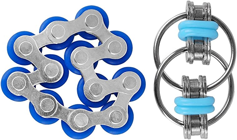 Chain Fidget Toy Hand Spinner Key Ring Sensory Toys Stress Relieve Dalair Nssad