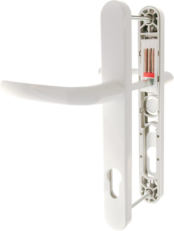 Pair Hoppe Birmingham 92mm Lever Upvc Door Handles Type B 215mm Screw Centres
