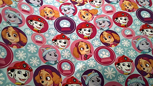 Christmas Wrapping Paw Patrol Badge Rocky Zuma Skye Rubble Marshall & Chase Holiday Paper Gift Greetings 1 Roll Design Festive Wrap Paw