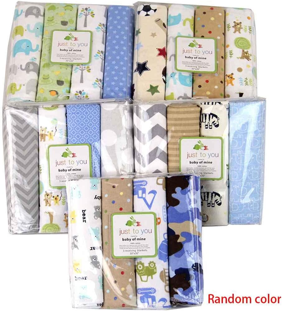 Aiming 4pcs / Set para bebés de algodón Manta de recepción recién Nacido Bedsheet Swaddler Infantil Swaddle Wrap Saco Bolsa Sleepsack Color al Azar