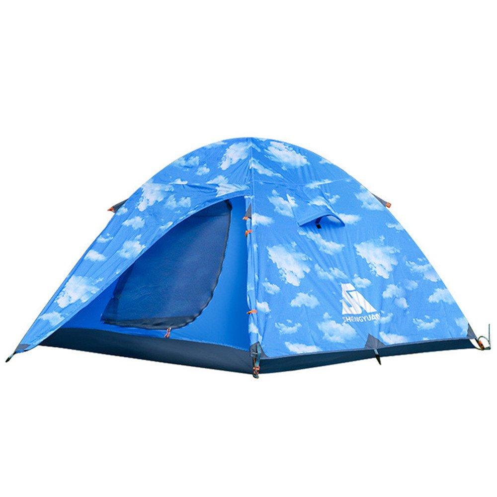 3-4人キャンプテント4シーズンダブルドアアルミロッドバックパッキングテントは屋外スポーツのために組み立てる必要があります   B07CBQ41PX, BB-FACTORY:a3509c13 --- ijpba.info