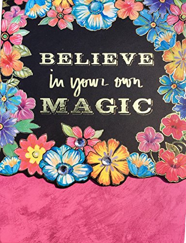 Molly & Rex Gold Foil & Gem Embellished Floral Mini Pocket Notepad ~ Believe in your own Magic 61548