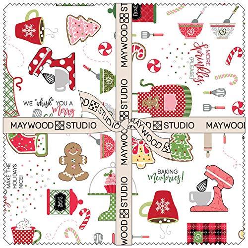 - Maywood Studio We Whisk You a Merry Christmas! Layer Cake by Kim Christopherson SQ-MASWYMC